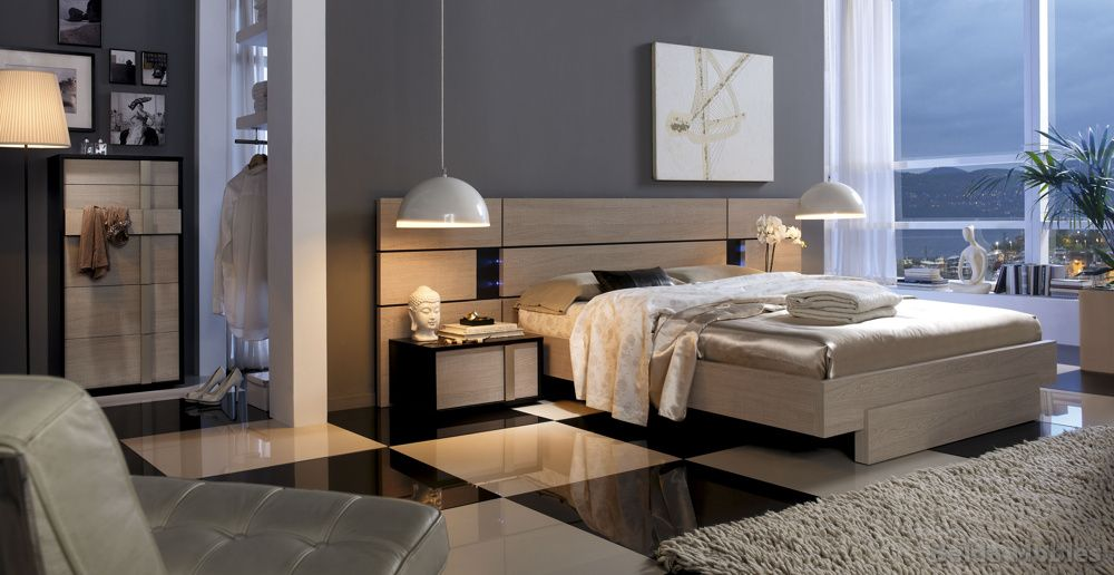 Dormitorio moderno 6 muebles belda for Dormitorio roble moderno
