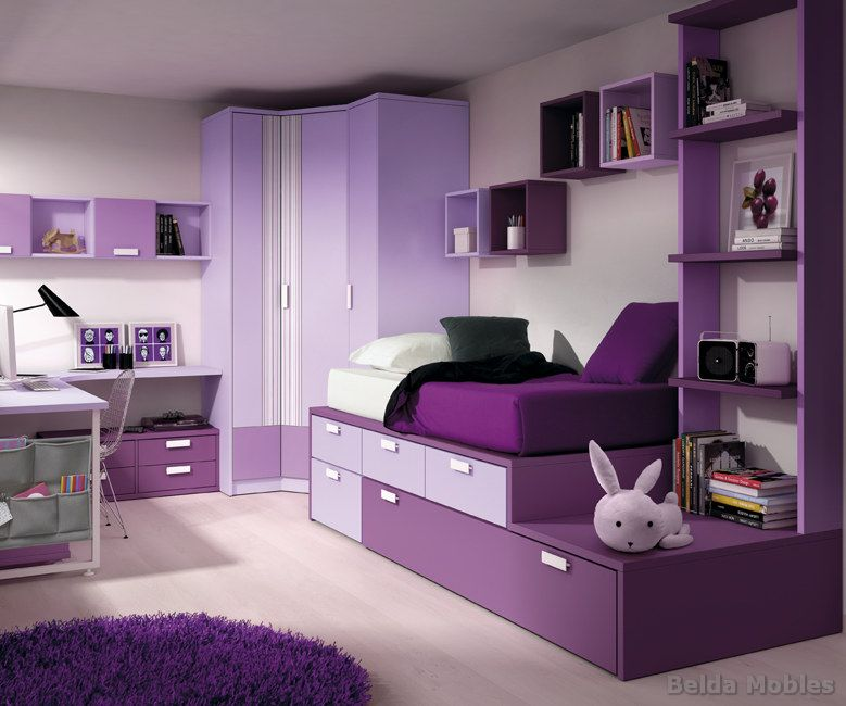 Habitaciones juveniles y mueble juvenil muebles belda - Dormitorio malva ...