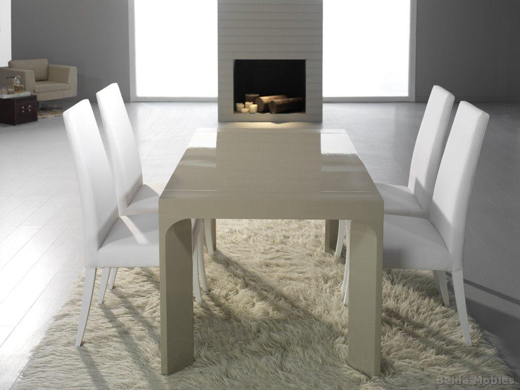 Mesa y sillas modernas 4 muebles belda for Tapices para sillas modernas