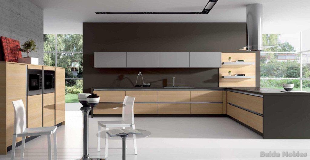 Cocina moderna 1 muebles belda for Cocinas en l modernas