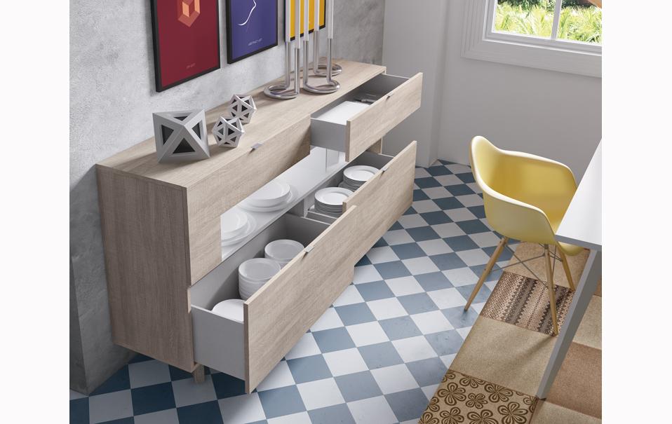Aparador moderno 3 muebles belda - Aparadores modernos para comedor ...