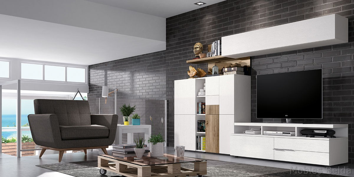 Comedor moderno 10 muebles belda for Comedor moderno blanco