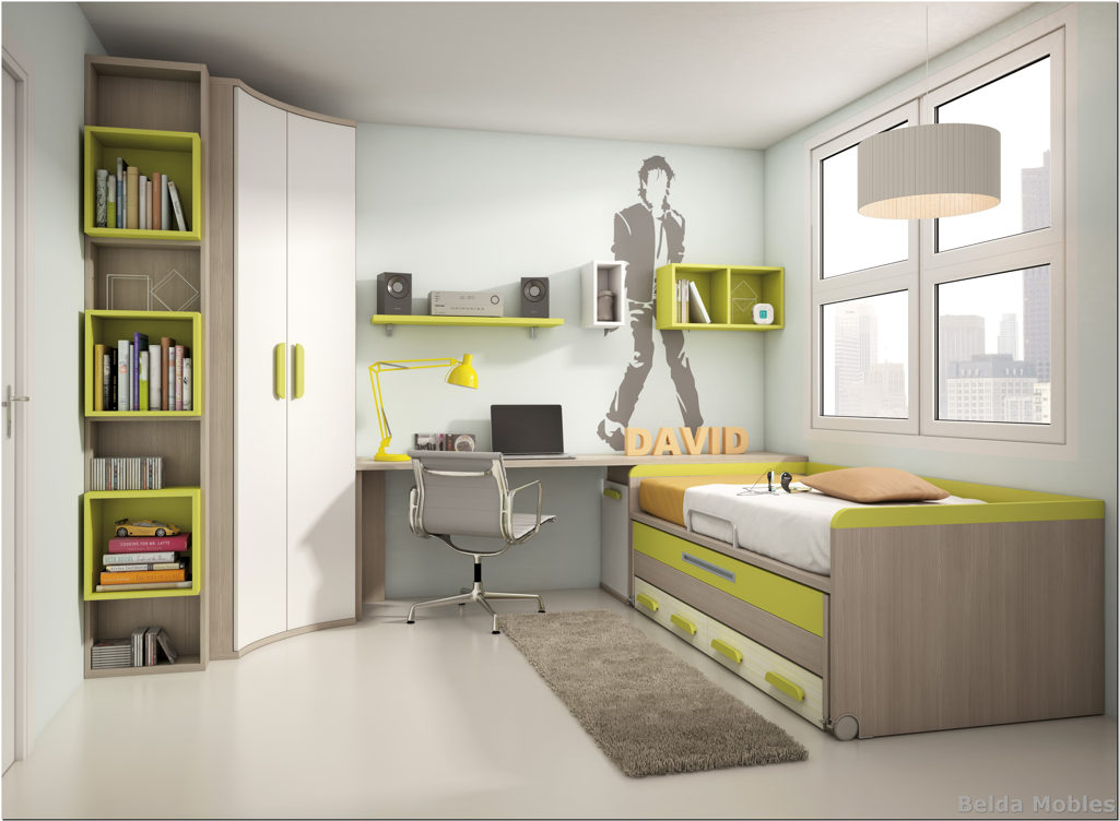 Cama compacta 5 muebles belda for Composicion dormitorio juvenil