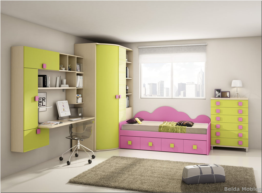Cama nido 4 muebles belda for Composicion dormitorio juvenil