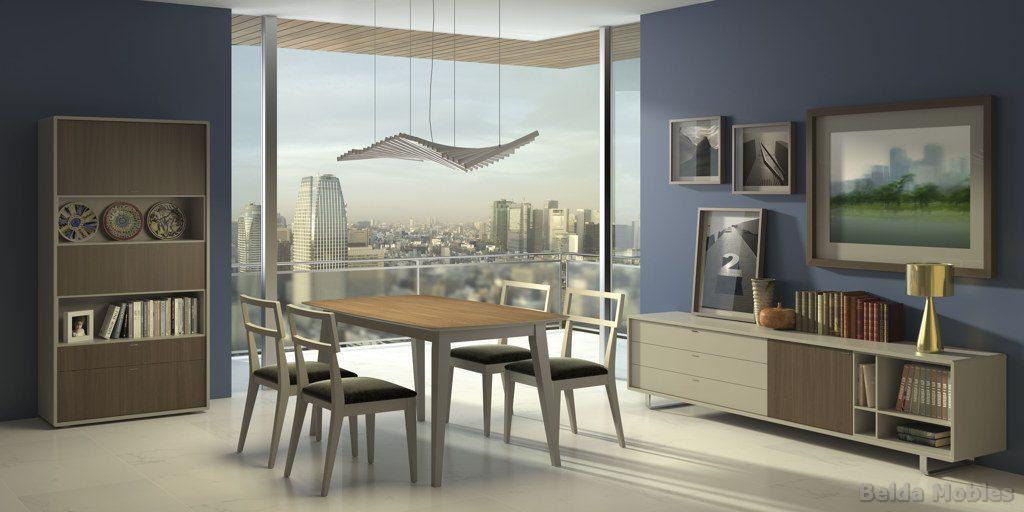 Aparador y vitrina moderno 17 muebles belda - Muebles vintage modernos ...