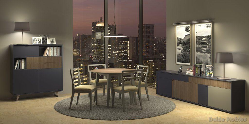 Aparador y vitrina moderno 13 muebles belda - Vitrinas y aparadores de comedor ...