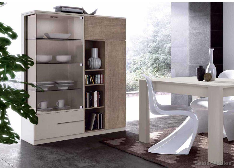 Aparador y vitrina moderno 7 muebles belda - Vitrinas y aparadores de comedor ...