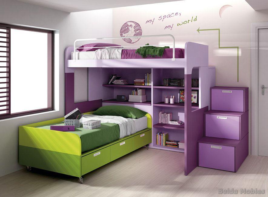 Litera 6 muebles belda - Habitaciones en espacios reducidos ...