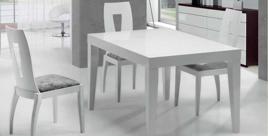 Mesa y sillas modernas 8 muebles belda for Sillas contemporaneas