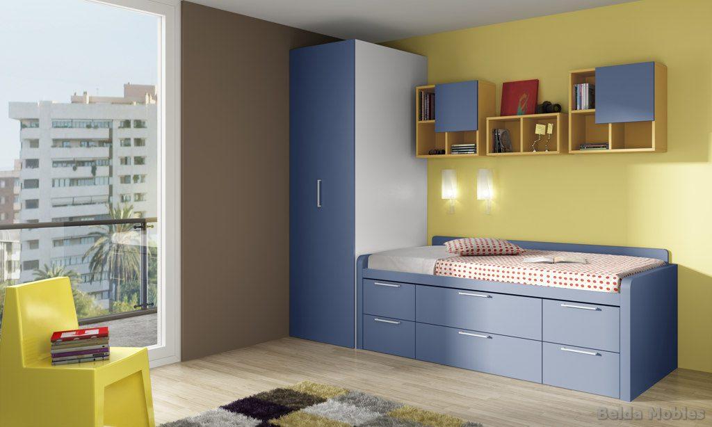 Cama compacta 6 muebles belda for Camas nido compactas