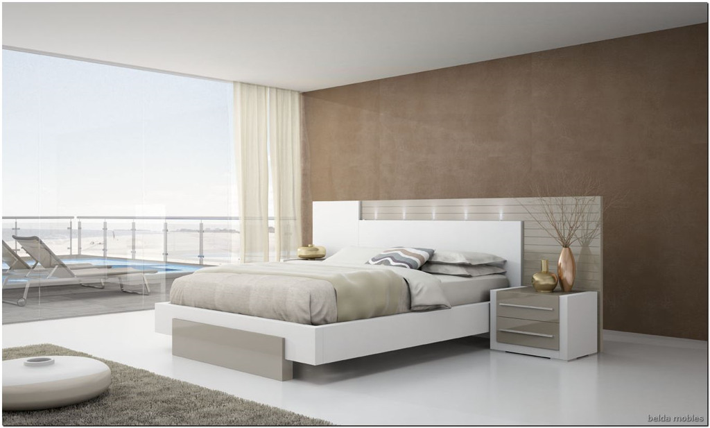 Dormitorio moderno 12 muebles belda for Dormitorio blanco y madera