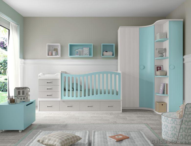 Cunas convertibles para habitaciones infantiles o de bebe - Habitaciones cuna convertible en cama ...