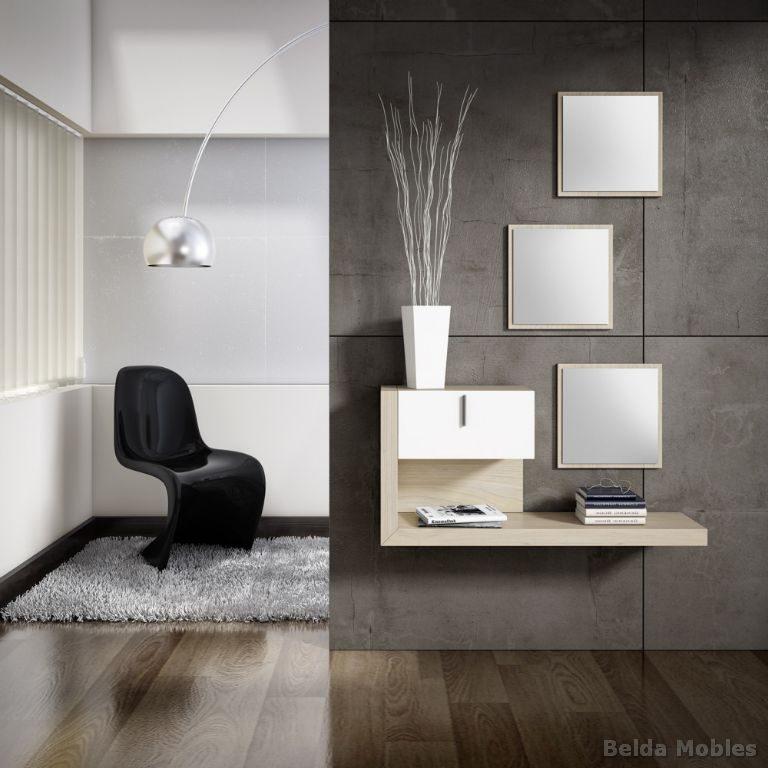 Recibidor 15 muebles belda for Mueble auxiliar moderno