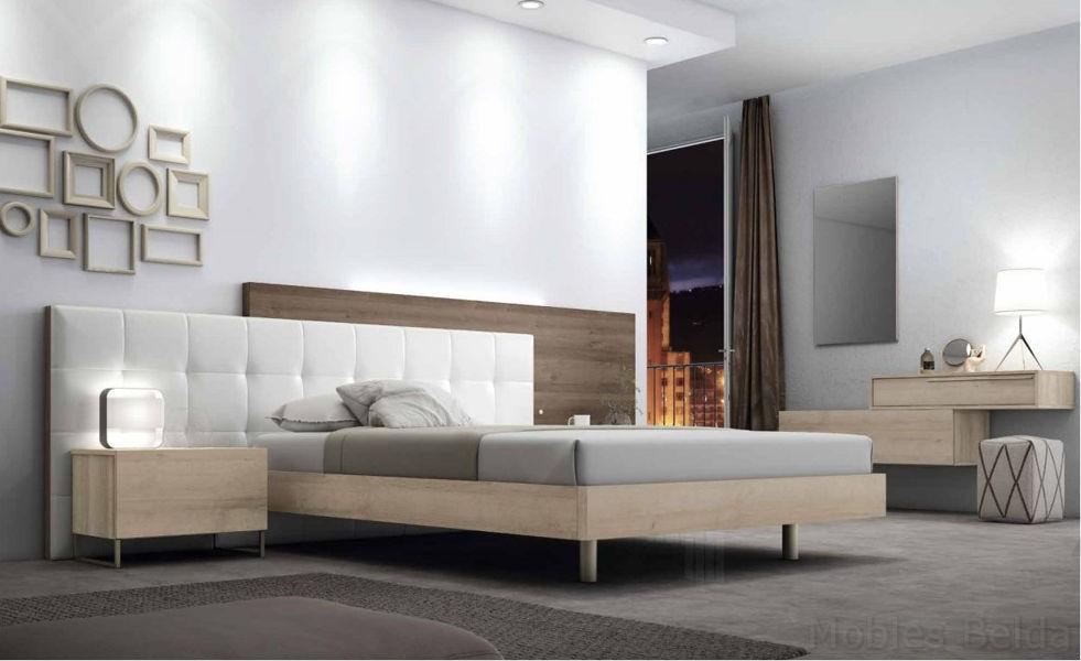 Cama tapizada 8 muebles belda for Cama tapizada
