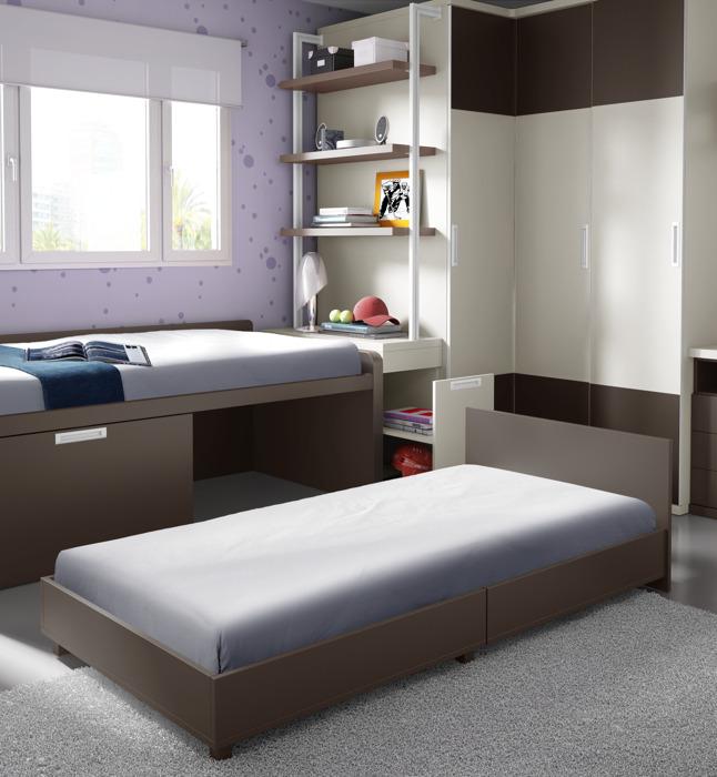 Cama compacta 7 muebles belda for Medidas cama compacta