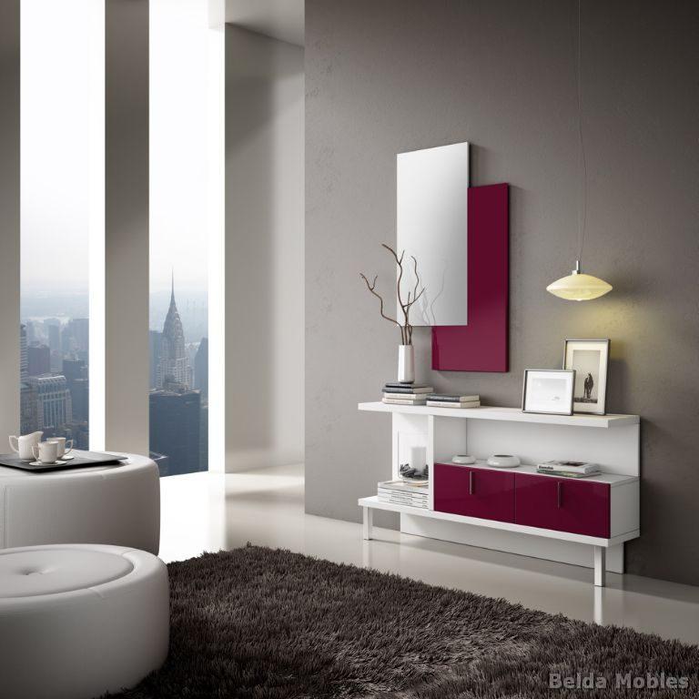 Mueble recibidor barato recibidor con mural espejo for Mueble recibidor barato