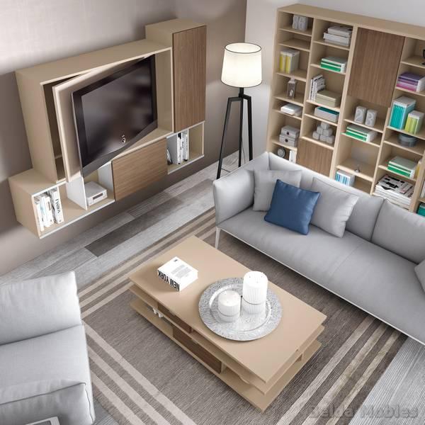 Mesa tv 4 muebles belda - Mueble ocultar tv ...