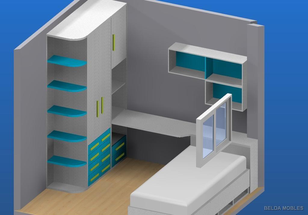 Dormitorio juvenil de david muebles belda for Dormitorios juveniles a medida