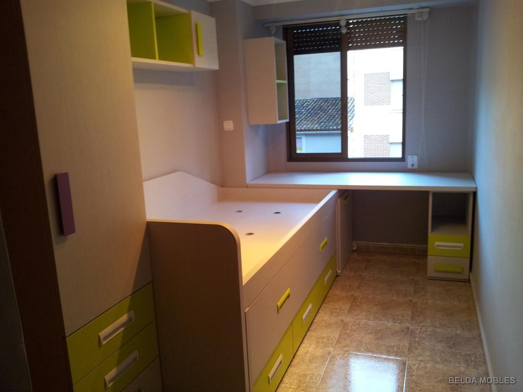 Muebles habitacion estrecha 20170810070616 - Habitacion juvenil chico ...