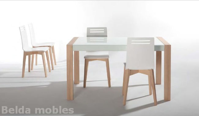 Mesa y sillas cocina 8 muebles belda - Sillas plegables de cocina ...