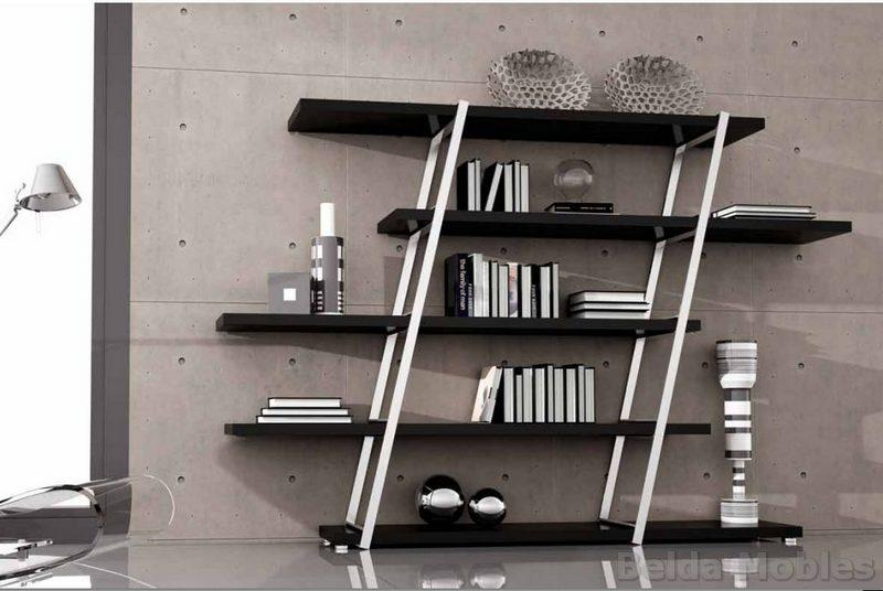 Librerias modernas para salon trendy integral para for Muebles librerias modernas