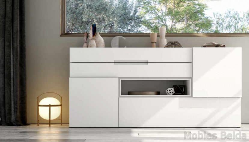 Aparador moderno 18 muebles belda - Muebles lacados en blanco brillo ...