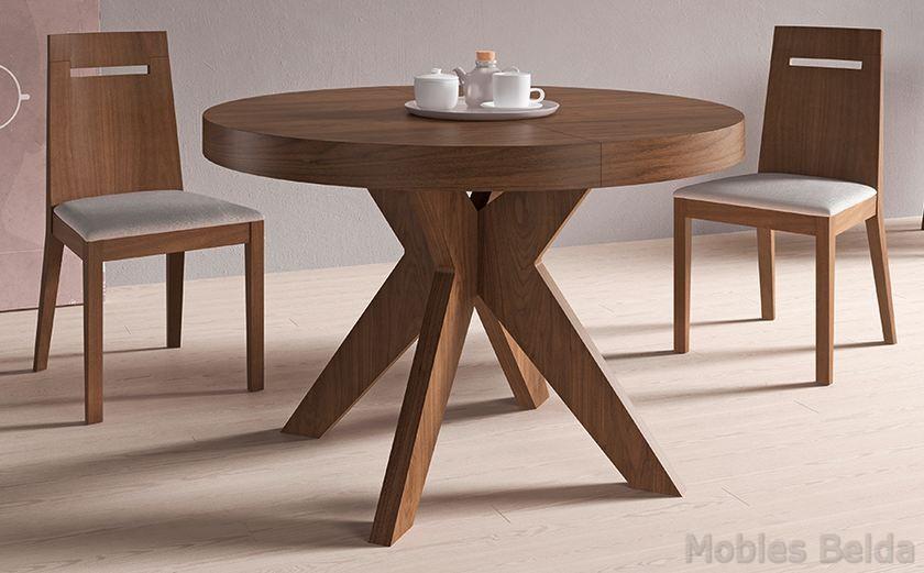 Mesa moderna 14 muebles belda for Mesas redondas modernas comedor