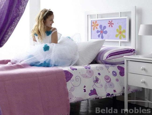 Cama forja 11 muebles belda - Cabezal forja blanco ...