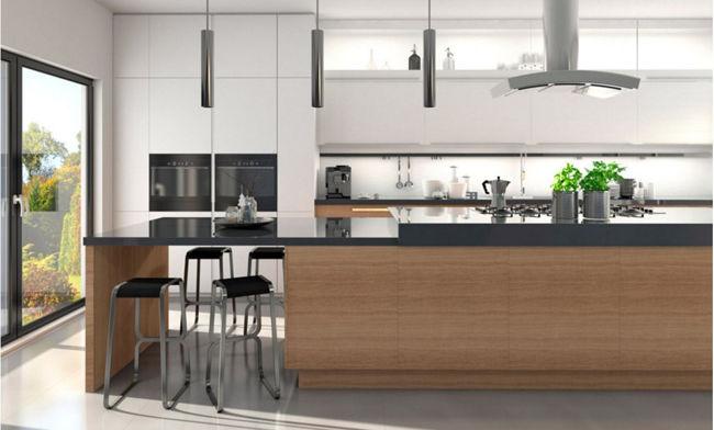 Cocina moderna madera cool bancos de cocina modernos diseos de madera y para las esquinas with - Bancos para cocina modernos ...