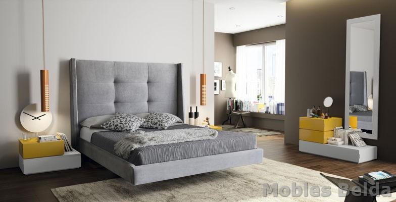 Cama tapizada 15 muebles belda - Muebles modernos en valencia ...