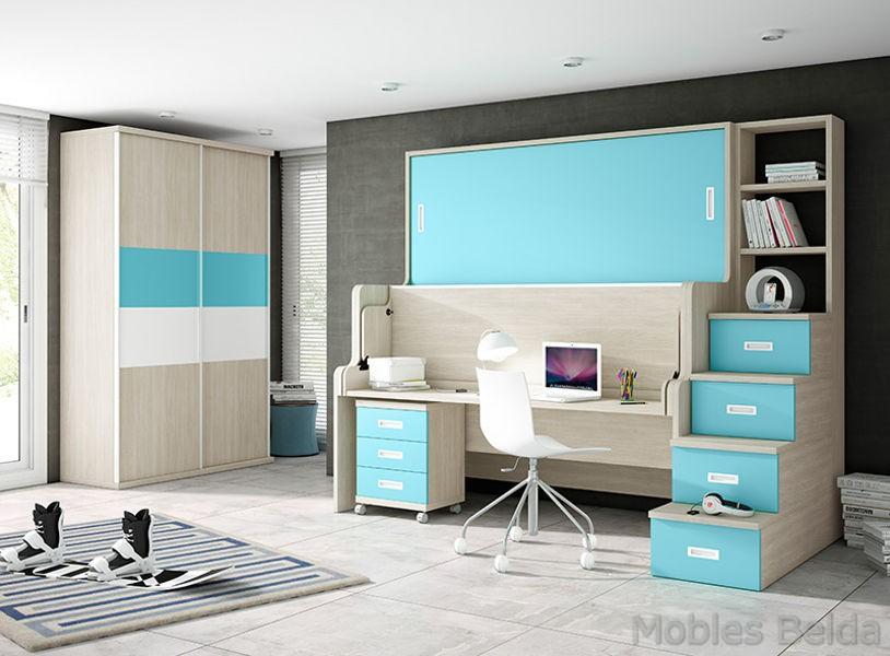 Habitaciones juveniles y mueble juvenil muebles belda for Habitaciones juveniles abatibles