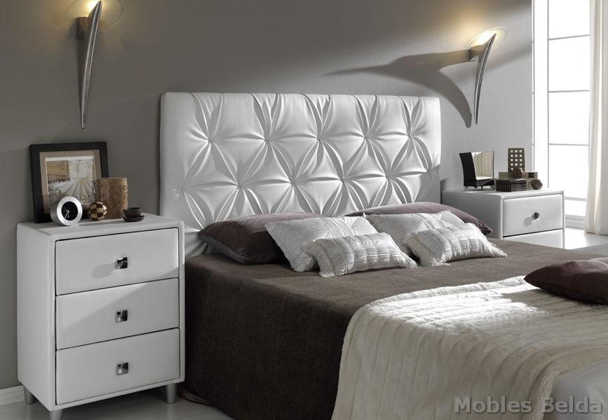 Cama tapizada 18 muebles belda - Cabecero cama acolchado ...