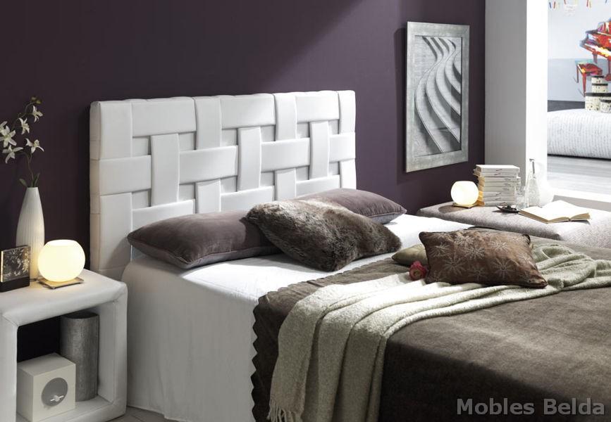 Cama tapizada 19 muebles belda for Cama tapizada