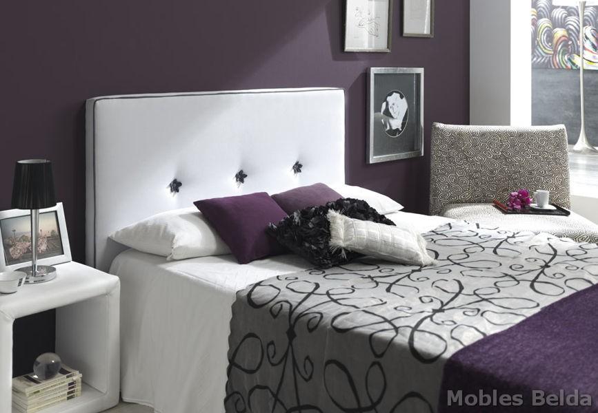 Cabezales de cama tapizados elegant cabeceros de cama - Cabezales de cama originales ...