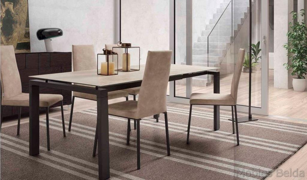 Mesa y sillas modernas 46 muebles belda for Sillas modernas 2016