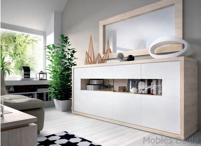 Aparador moderno 5 muebles belda for Mueble buffet moderno