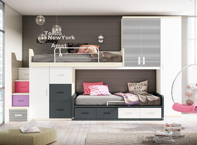 Habitaciones juveniles y mueble juvenil muebles belda - Habitaciones con escaleras ...