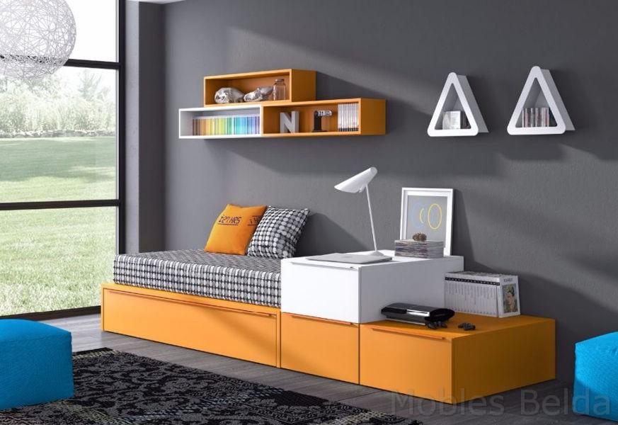 Habitaciones juveniles y mueble juvenil muebles belda - Mueble cama nido ...
